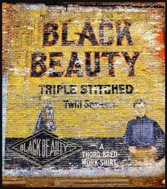 Wall Sign: Black Beauty Work Shirt--Highland Park MI