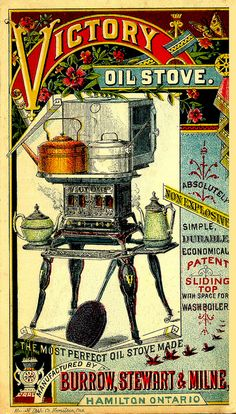 Non-Explosive Victory Oil Stove, about 1899