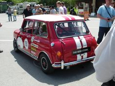 Cooper S Mk1 Race Mini built by BMW Classic Division . Shame they didn't study it a bit more closely......