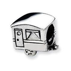 Reflections Camper Trailer Charm Bead  - Pandora Compatible