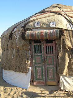 Yurt Door, Kyzyl Kum Desert, Uzbekistan.