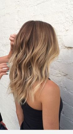 Butterscotch blonde balayage #haircolor #half #and #half #hair #color Ombre Hair Color, Hair Color Balayage, Brown Hair Colors, Balayage Hair Blonde Medium, Balayage Hair Light Brown, Dying Hair Blonde, Subtle Balayage, Blonde Hair With Balayage, Brown Hair With Blonde Ombre