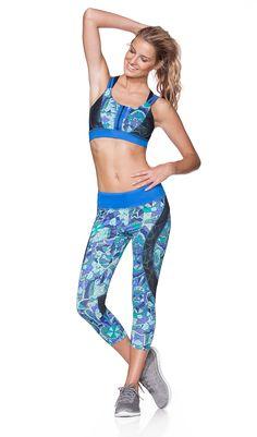 437e04d5a6ea6d boutique flirt - Maaji Active Cyanne Forest Capri, $66.00… Flirting, Bathing  Suits,