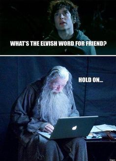 Hang on, Middle Earth has a bad connection.... Oh hold on my phone is ringing.... Ugh.. Sauramon.. IGNORE!! Hey Frodo, selfie??