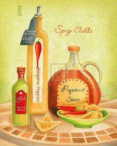 Cuisine Du Monde IV Art Print by Sophia Sanchez Easyart.com