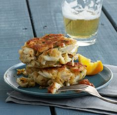 Classic Maryland Crab Cakes--this was our main course, for the party I'd serve mini versions.