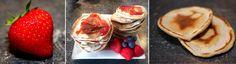 Makkelijke en snelle pancakes voor het weekend. Met jam en vers fruit. http://amsterdamama.nl/zondagochtend-ontbijt-snelle-pancakes/
