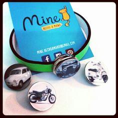 Snappy botones #coches #motos #clásicos 4€ Colores flúor #fluo #summer #handmade #click #button
