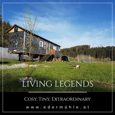Living Legends, Cabin, House Styles, Large Backyard, Double Room, Time Out, Cabins, Cottage, Wooden Houses