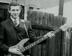 Young, blonde John Entwistle with his bass