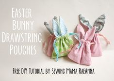 Tutorial: Easter bunny drawstring pouch