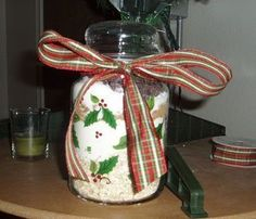 Making Cookies in a Jar Mixes