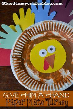 Turkey Preschool Craft Paper Plate Fork