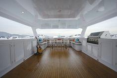 Interior design - yacht upper deck