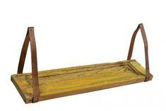 Vintage Vägghylla - Läder/Trä - Köp möbler och inredning på Reforma Sthlm
