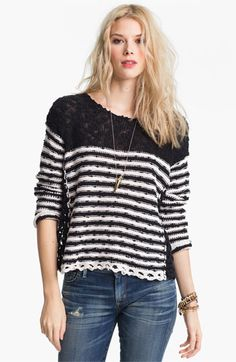 Free People 'French Creek' Slub Cotton Sweater available at Nordstrom
