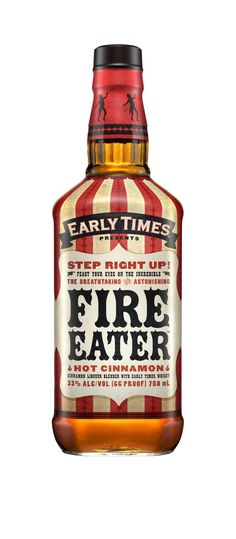 I love everything about the design on this bottle. Early Times Fire Eater - Brown-Forman Design