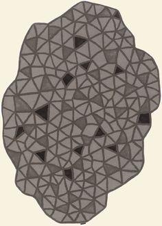 modernrugs.com gray black triangles odd shaped geometric modern rug