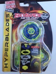 Beyblade Metal Fury Hyperblades Cosmic Pegasus BB-105-FX Attack by Adkor417