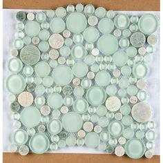 Emser Tile Lucente Random Sized Glass Pebble Tile in Lazzaro Cool Ideas, Joanna Gaines, Inside Pool, Fireplace Facade, Best Floor Tiles, Shower Floor, Ikea Hacks, Wall Tiles, Tile Art