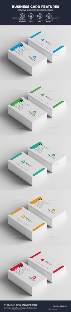 #Business #Cards - Business Cards Print Templates Download here: https://graphicriver.net/item/business-cards/19905910?ref=alena994