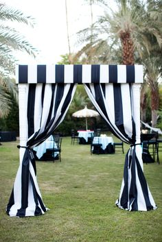 cabana striped entrance  Photography by jesseleake.com, Floral Design and Coordination by http://artisanevents.net