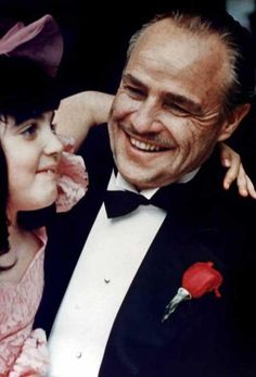 The Godfather - An uncharacteristic smiling Don Vito Corleone #GangsterMovie #GangsterFlick                                                                                                                                                      More