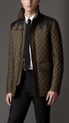 Diamond Quilted Jacket | Burberry | Mens Fashion | Pinterest ... : leather quilted jacket men - Adamdwight.com