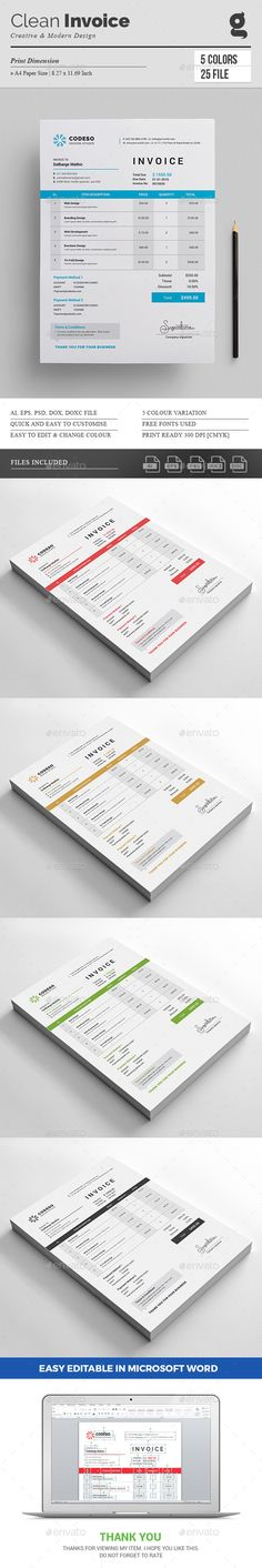 Invoice Stationery printing, Print templates and Template - printing invoice