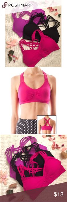 MALEVA CHIC bralette - 6 bralettes PRICE IS FOR 1 BRALETTE removable pads, racerback bra, perfect amount of stretch, available in black, white, berry, taupe, silver grey & dusty rose. PRICE FIRM Bellanblue Accessories