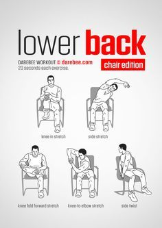 Lower Back Workout (Chair).     www.bacrac.co.uk/