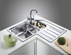 15 Cool Corner Kitchen Sink Designs | Corner sink, Sinks and Corner