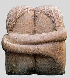 Brancusi, Constantin (1876-1957) - 1916 El beso (Museo de Arte de Filadelfia , EE.UU. ) por RasMarley en Flickr.