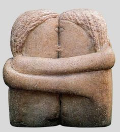 """Always Kisses"" Sculpture: The Kiss, by Brancusi"