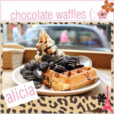 MEALS ;; chocolate waffles (: ♥, created by thepolyvorecook.polyvore.com  CLICK ON PICTURE TO GET RECIPES!