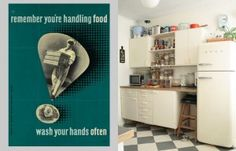 Vintage Print and retro kitchen