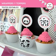 toppers y wrappers Panda Themed Party, Panda Birthday Party, Panda Party, Diy Birthday, Birthday Celebration, Birthday Party Themes, Bolo Panda, Panda Baby Showers, Cap Cake