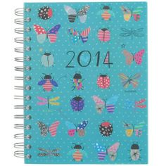 A5 day to view bugs 2014 diary