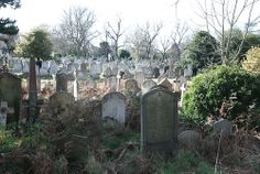 Collection of graves, Brompton Cemetery, London SW10, 4th February 2014