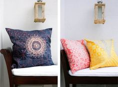 Alabi, Red and Yellow Nike Cushions - Comfort & Samuel