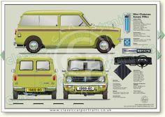 Mini Clubman Estate 1969-80 classic car portrait print