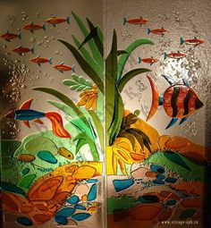 The Art of fusing pictures in glass | Fusing - Elena Surkova Stained-glass Studio Fine Art in Stained Glass ...