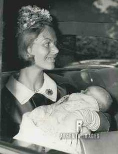 argentaimages:  Duchess of Kent holding daughter Lady Helen Windsor on the day of her christening, 1964.