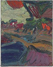 Frank Auerbach (b. 1931) Primrose Hill Study - Autumn Evening