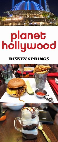 Planet Hollywood Observatory in Disney Springs - Restaurant review with menu, restaurant and food pictures. Planet Hollywood Observatory is one table service credit on the Disney Dining Plan.  Themed with music and movie memorabilia.  Burgers, pasta and p