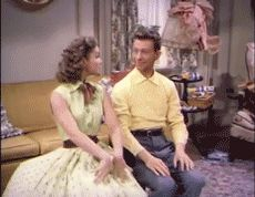 "Donald O'Connor and Debbie Reynolds being perfectly adorable in ""Where Did You Learn To Dance"" from I Love Melvin (1953)"