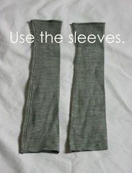 cut sleeves leg warmers