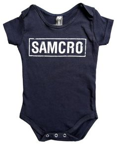 Amazon.com: Sons Of Anarchy Baby Snap One piece NAVY T-shirt Jumper Romper SAMCRO (S): Clothing