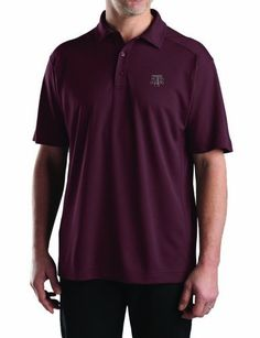 NCAA Men's Texas A&M Aggies Bordeaux Drytec Genre Polo Tee, XX-Large by Cutter & Buck. $28.28. This Lightweight, Textured Cb Drytec Fabric Has A Silky Hand And Features A Moisture-Wicking Finish To Keep You Cool And Dry. Constructed With A Self-Fabric Collar, Three Button Placket With Dyed-To-Match Logo Buttons, Forward Shoulder, Open Sleeves, Side Panels, And Side Vents. Tonal C&B Embroidery At The Left Sleeve Hem.