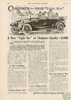 Chalmers Light Six Car (1915)